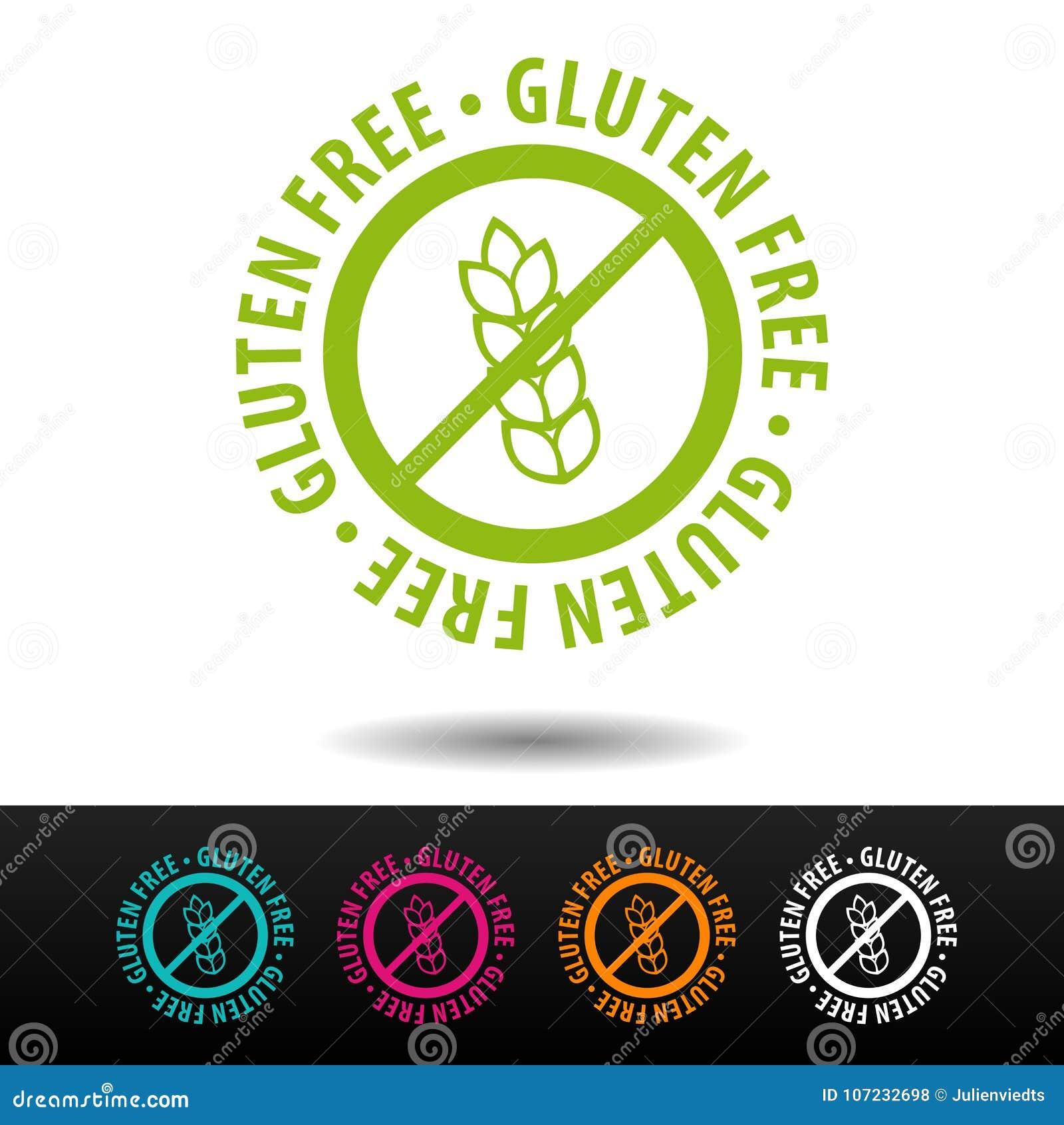 Insignia libre del gluten, logotipo, icono Ejemplo plano del vector en el fondo blanco Puede ser la empresa de negocios usada
