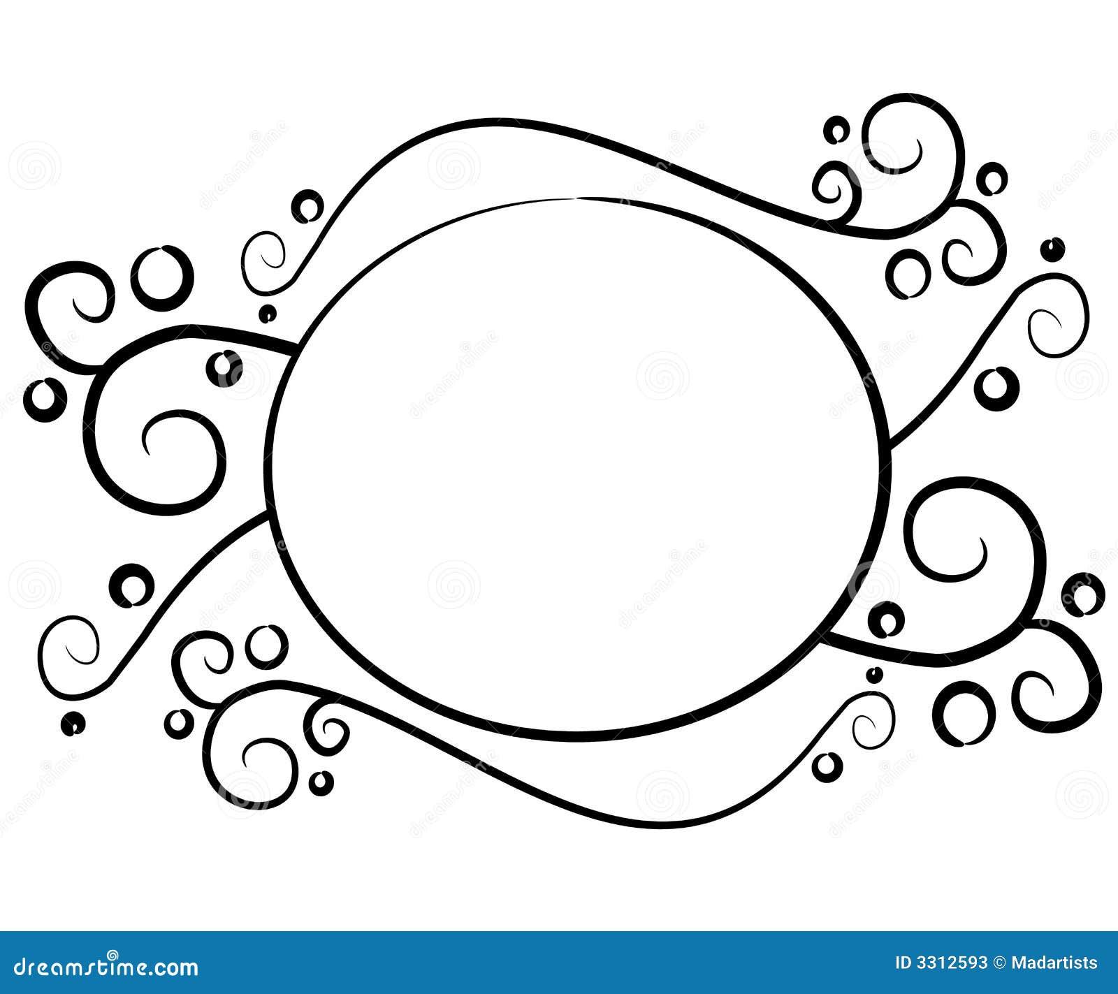 Insignia negra decorativa del Web page
