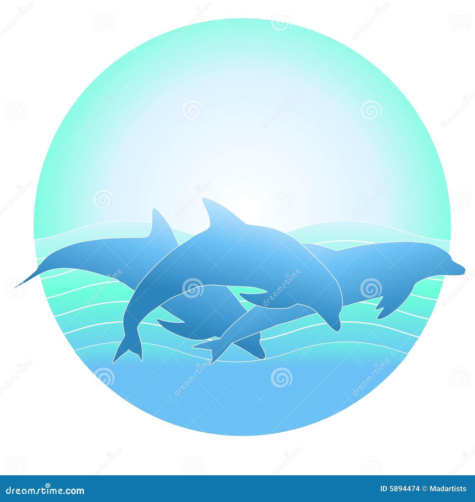 Insignia o fondo del delfín