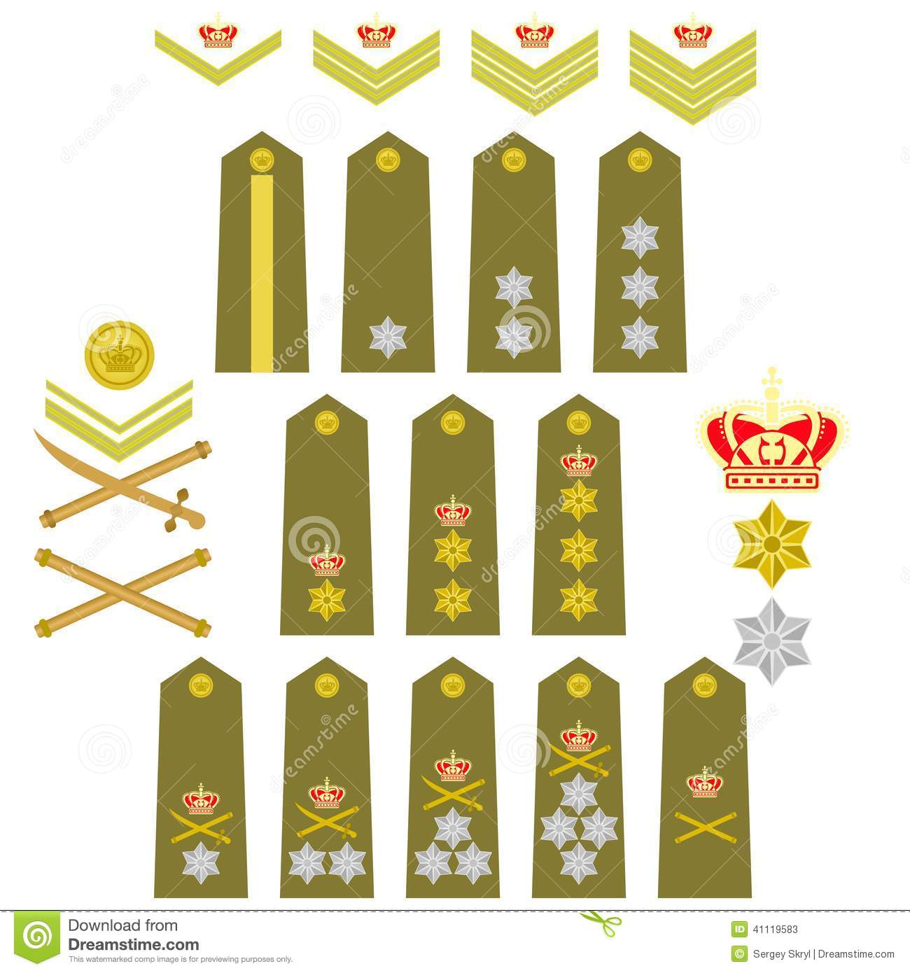 Insignia Of The Royal Greek Army Stock Vector - Illustration of