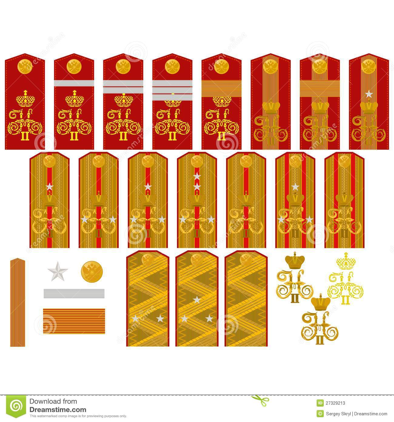 Insignia Of The Russian Imperial Army Stock Photos - Image: 27329213