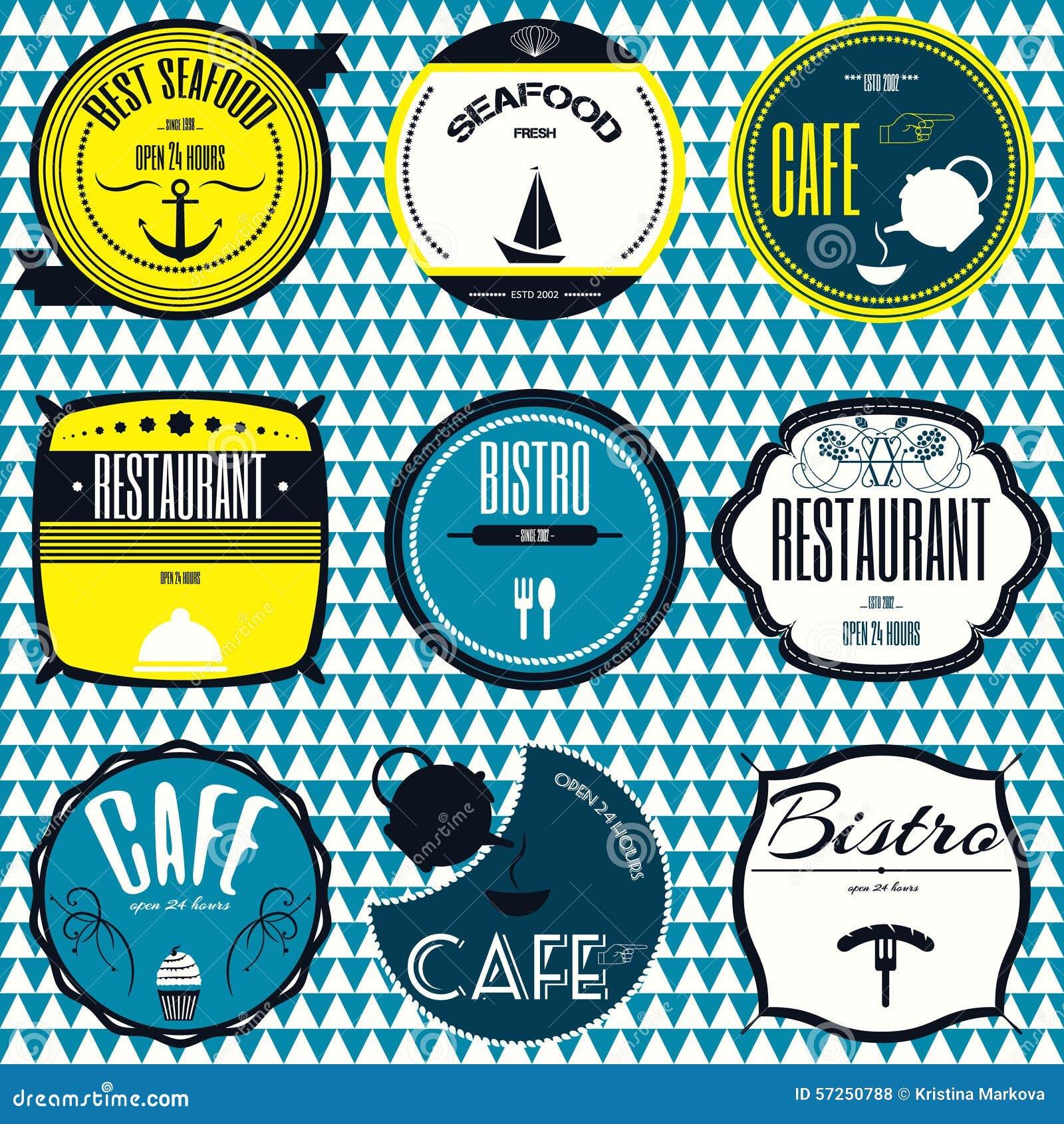 Insignias del vintage, cintas y letrero retros determinados del inconformista de las etiquetas