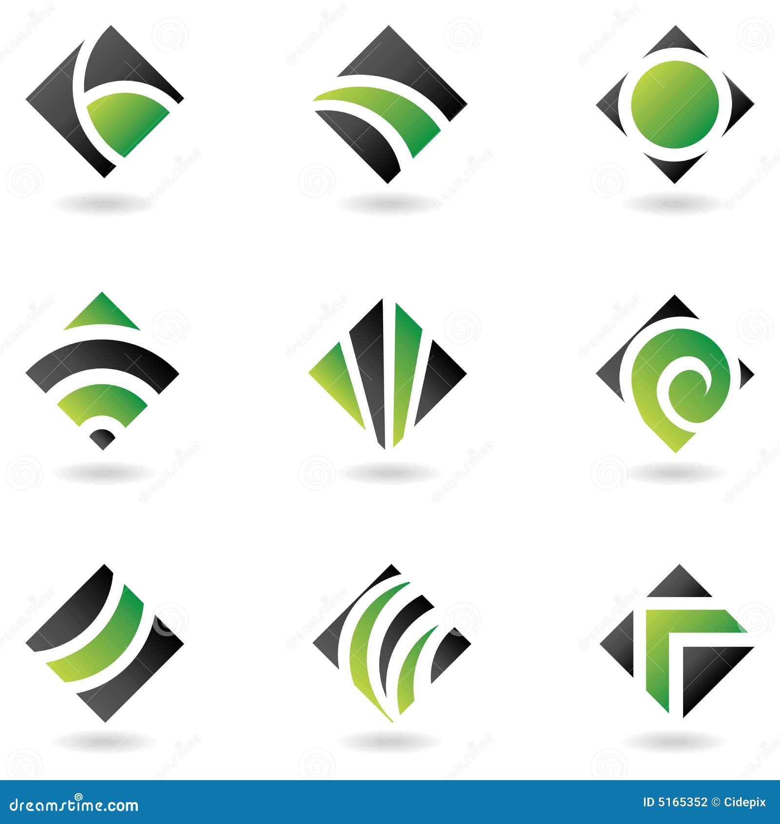 Insignias verdes del diamante