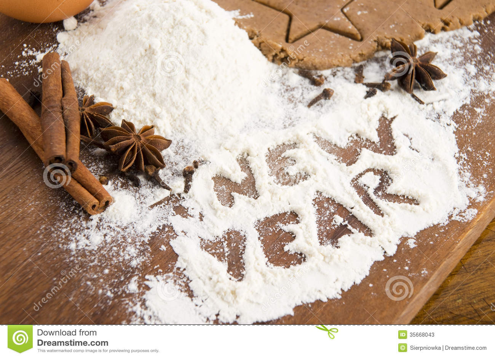 Inskriften på mjölet - nytt år