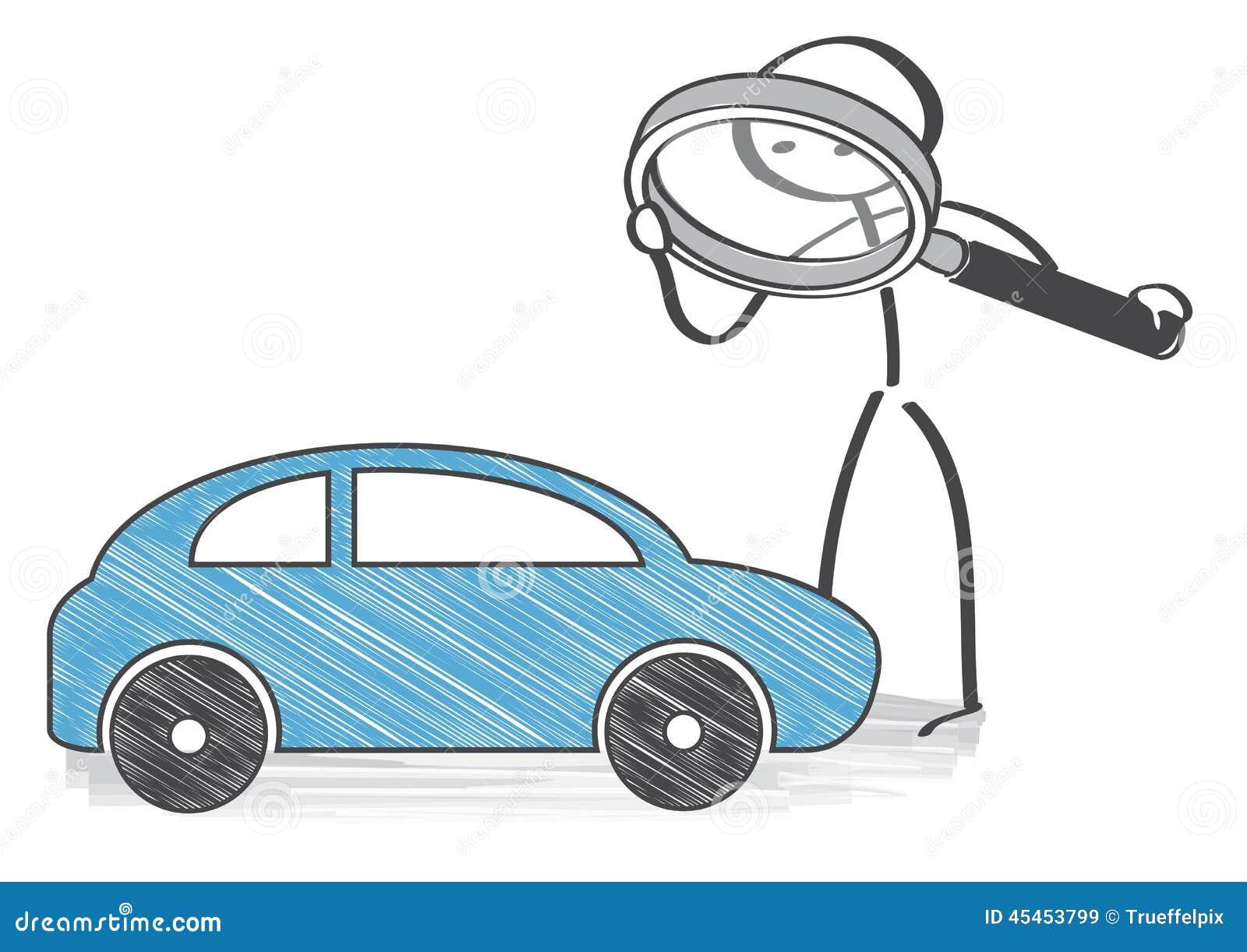 Inspección auto stock de ilustración. Ilustración de negocios ...
