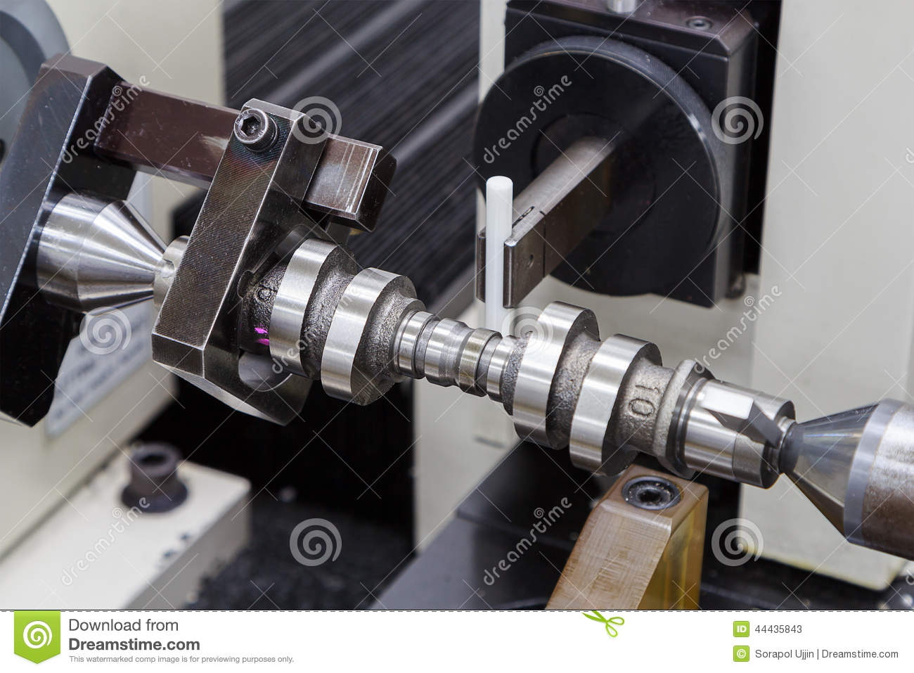 Inspection Cam Shaft Of Machining Process Stock Image