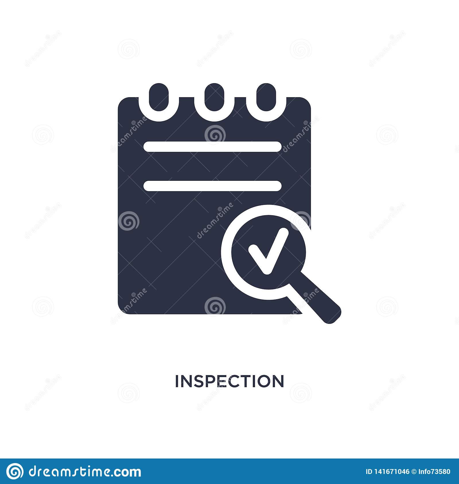 inspection icon on white background. Simple element illustration from delivery and logistics concept