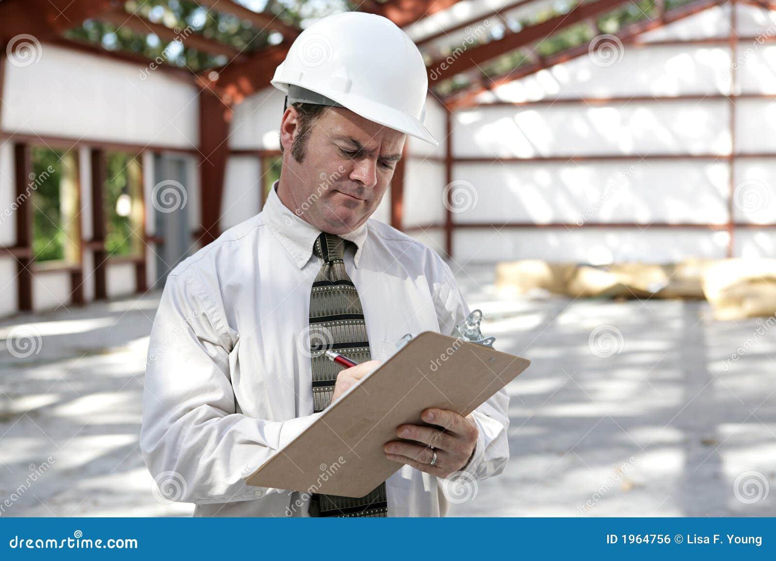 Inspector da construção - lista de verificação da marcação