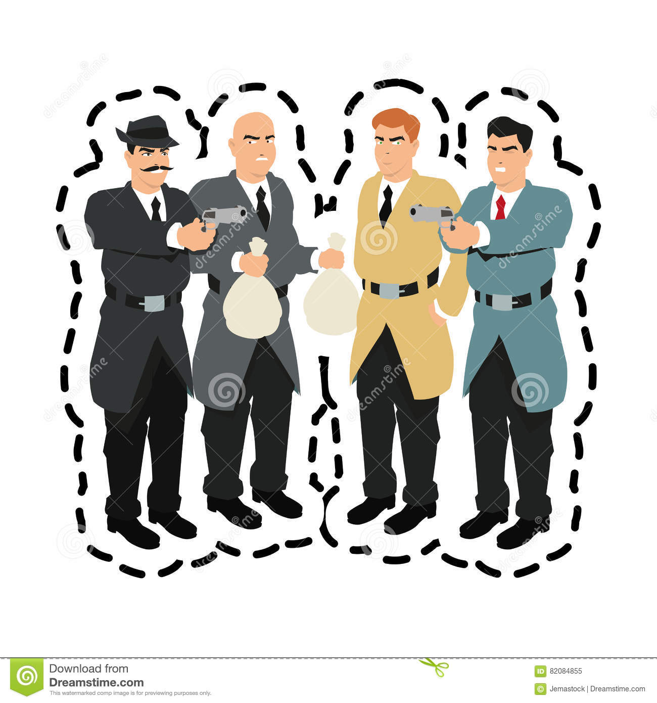 thief and police cartoon stock vector image 89756537