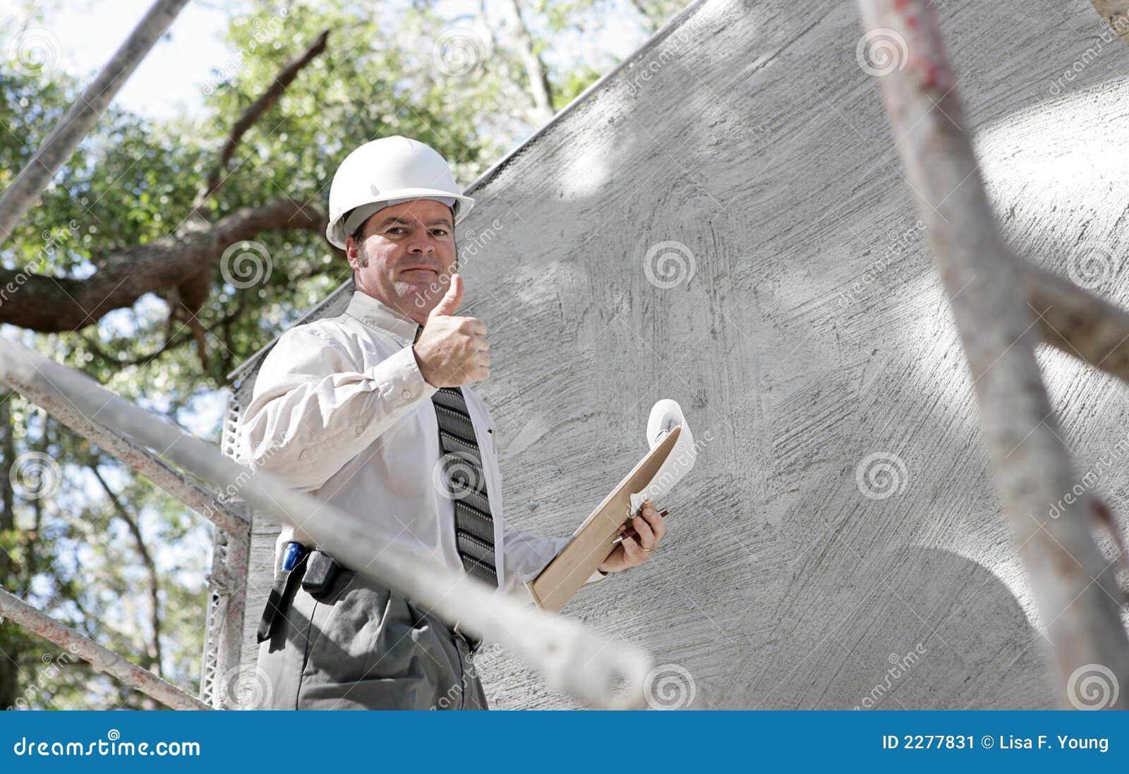Inspektor thumbsu budowlanych