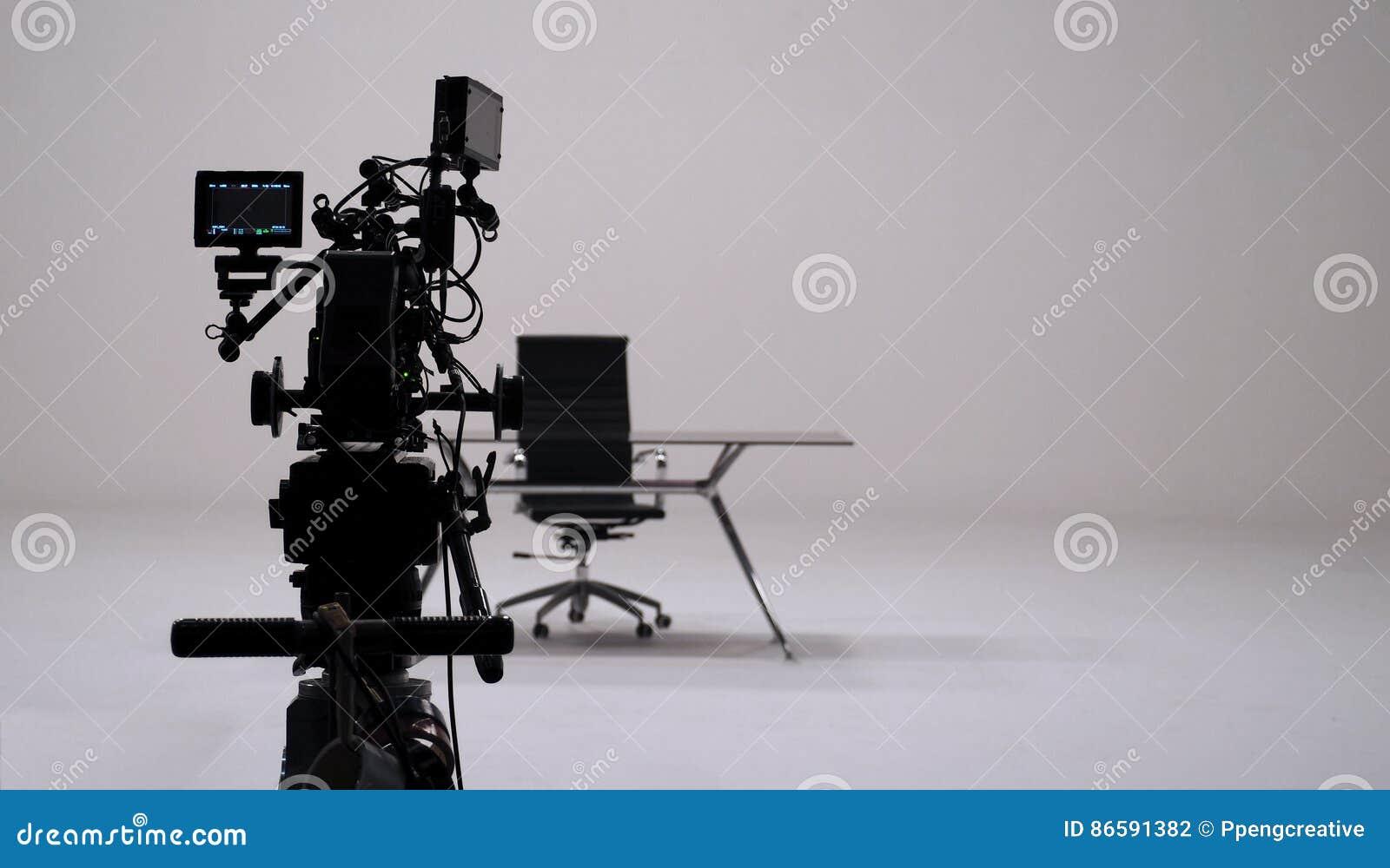 Inspelning för TVreklamfilm och uppsättning för filmkamera
