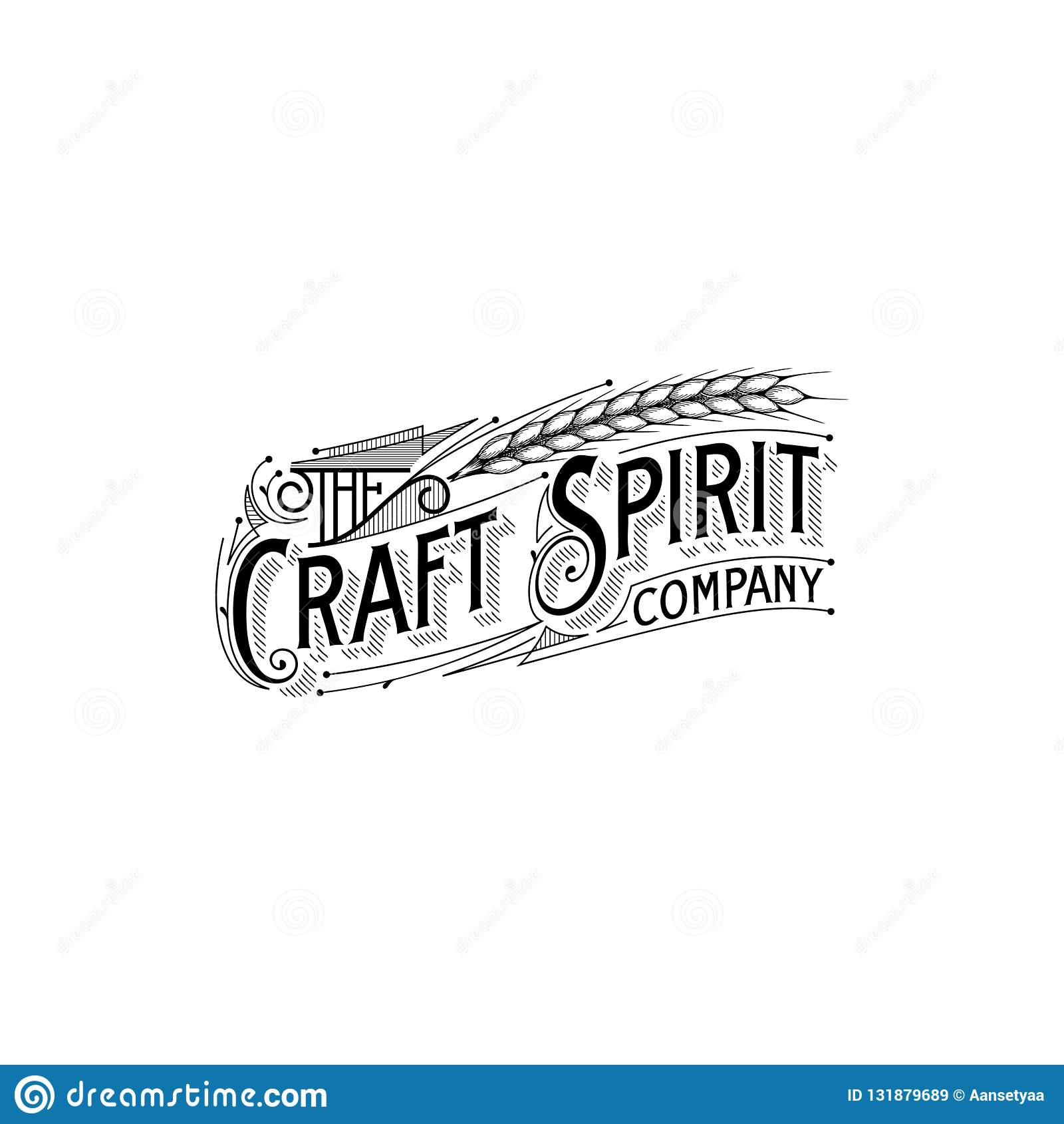 Inspiración del diseño del logotipo del typorgraphy del vintage, vector del art déco