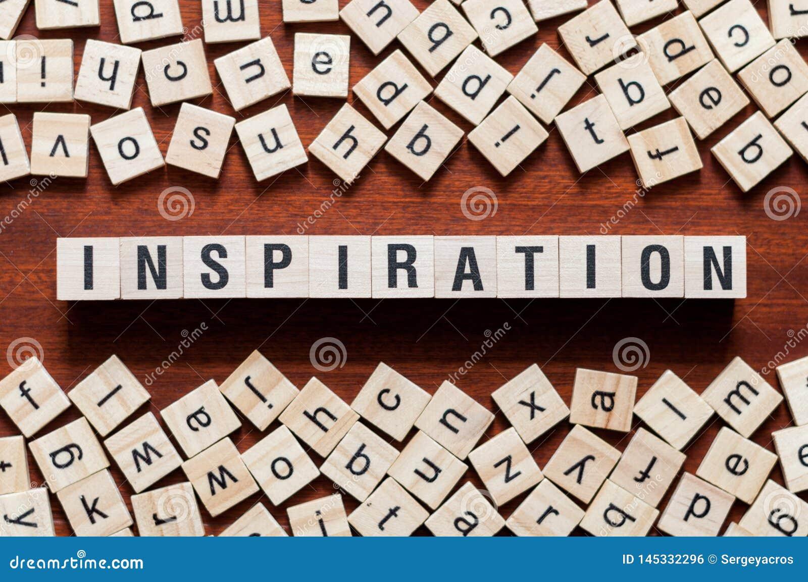 Inspiracji słowa pojęcie