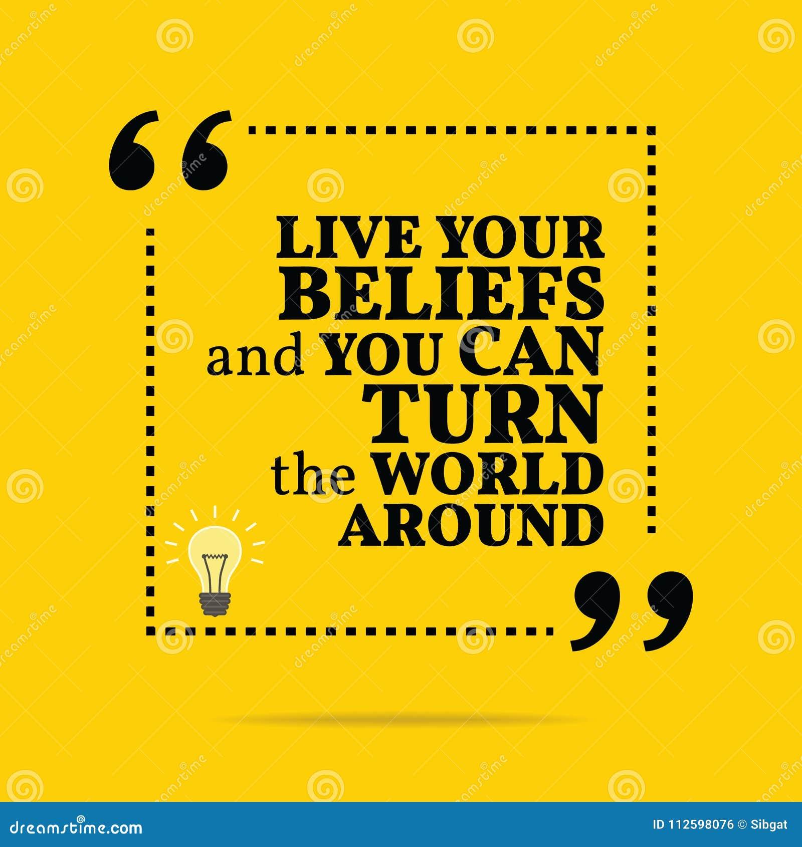 Inspiracyjna motywacyjna wycena Żyje twój wiary i ty możesz