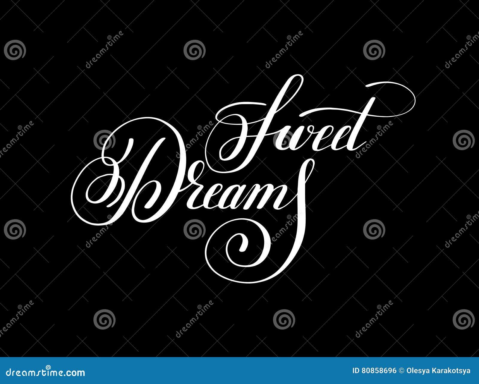 Inspirat manuscrit de positif d inscription de lettrage de rêves doux