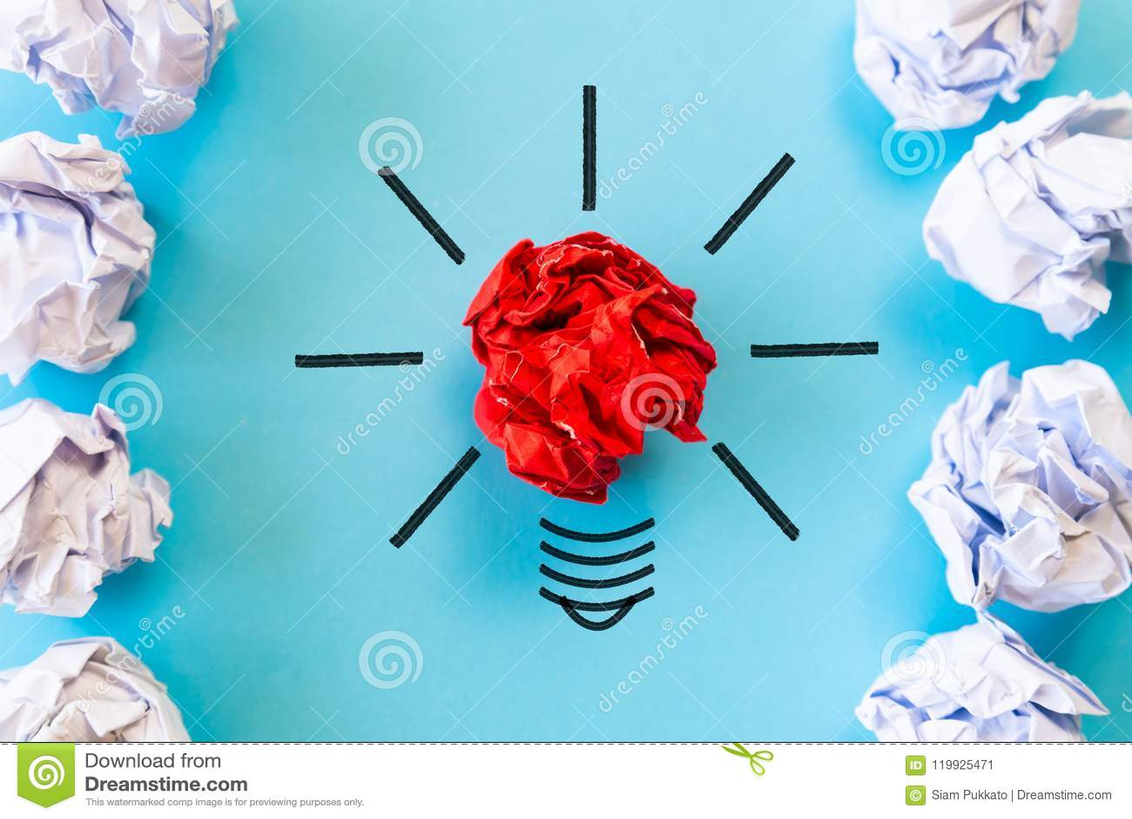 Inspiratie en groot ideeconcept