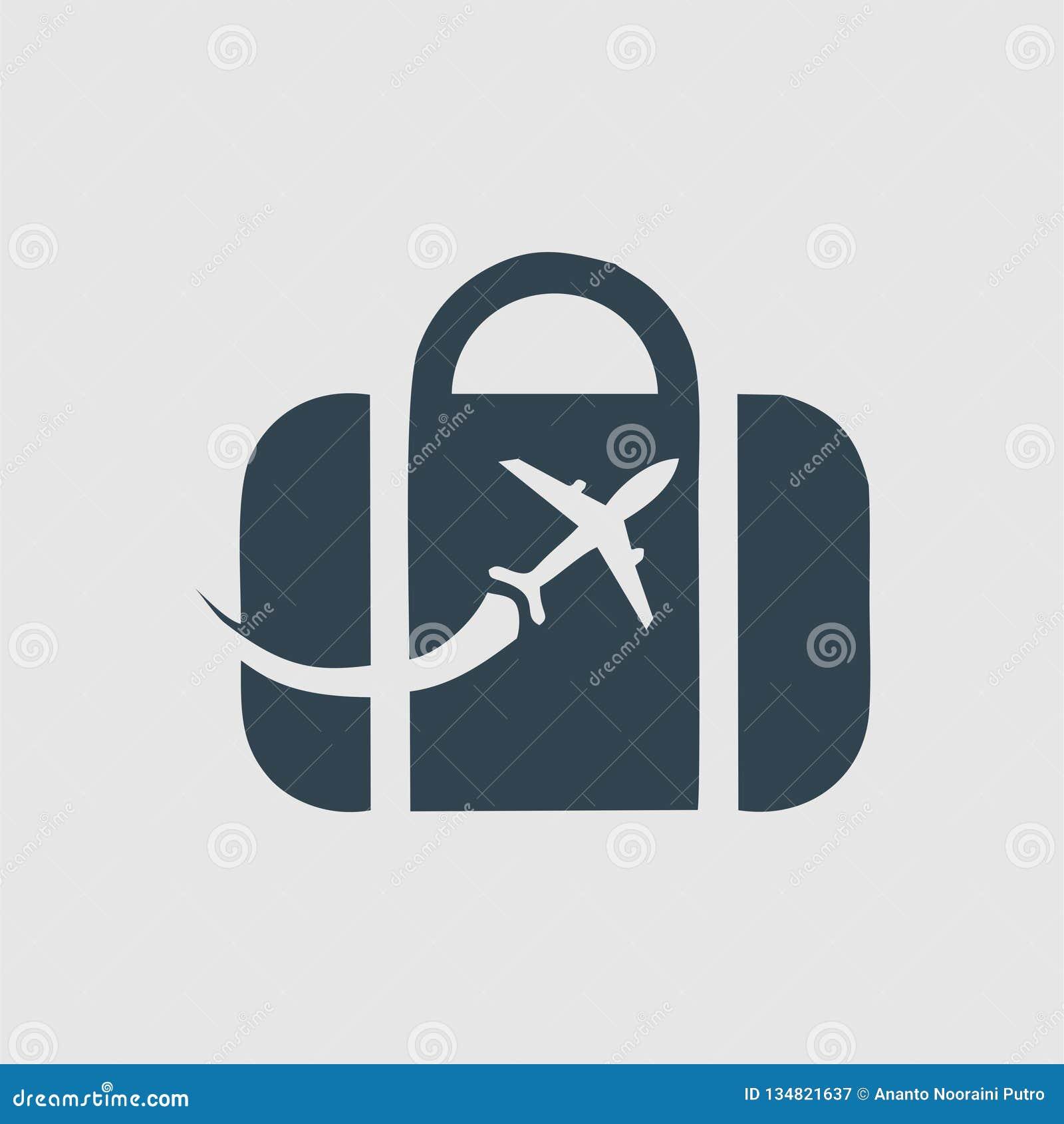 Inspiration de logo de monogramme de sac de voyage