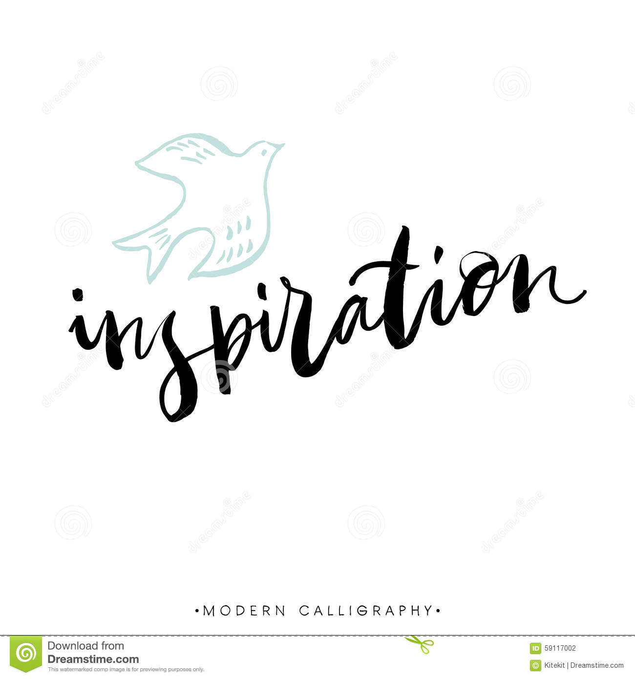 Inspiration Modern Brush Calligraphy Handwritten Ink