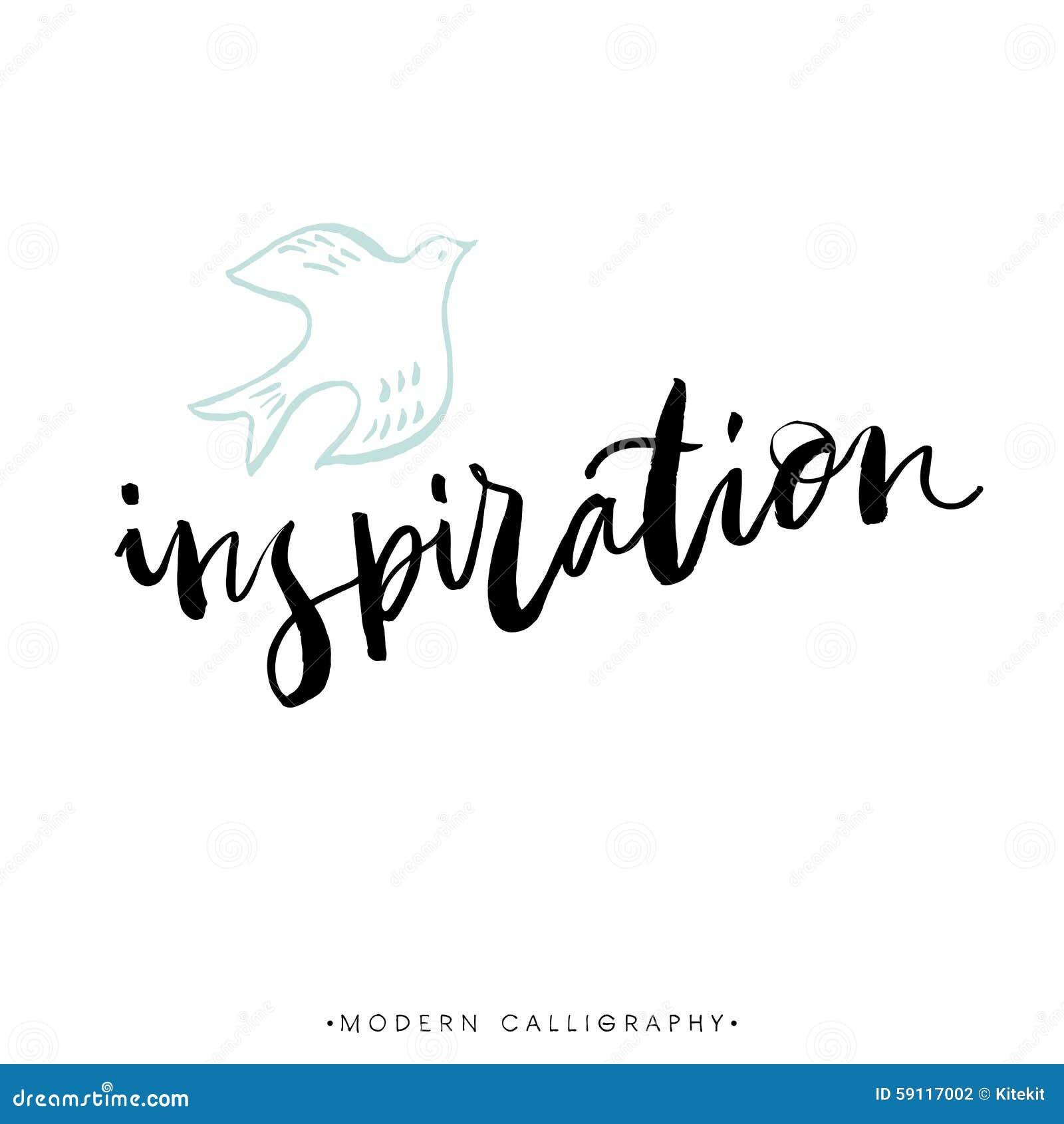 Inspiration modern brush calligraphy handwritten ink