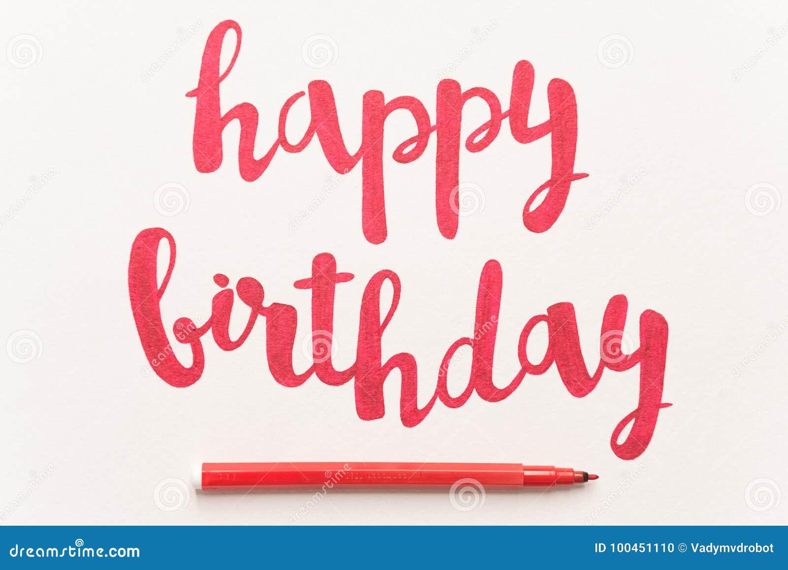 Inspirational citaat` Gelukkige verjaardag ` voor groetkaarten en affiches