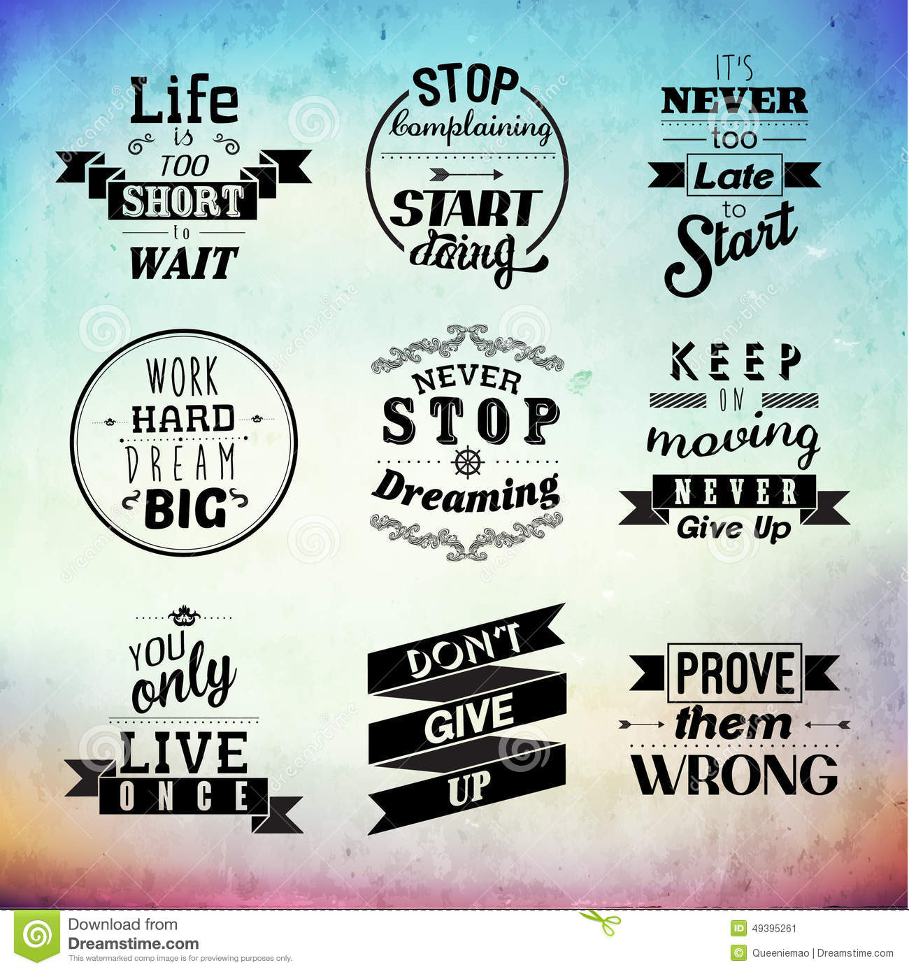 Inspirational And Encouraging Quote Vector Design Stock