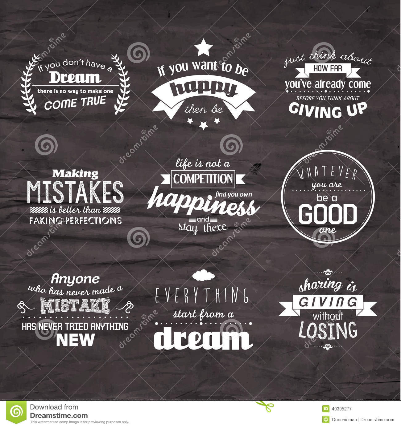 inspirational and encouraging quote vector design stock vector image 49395277