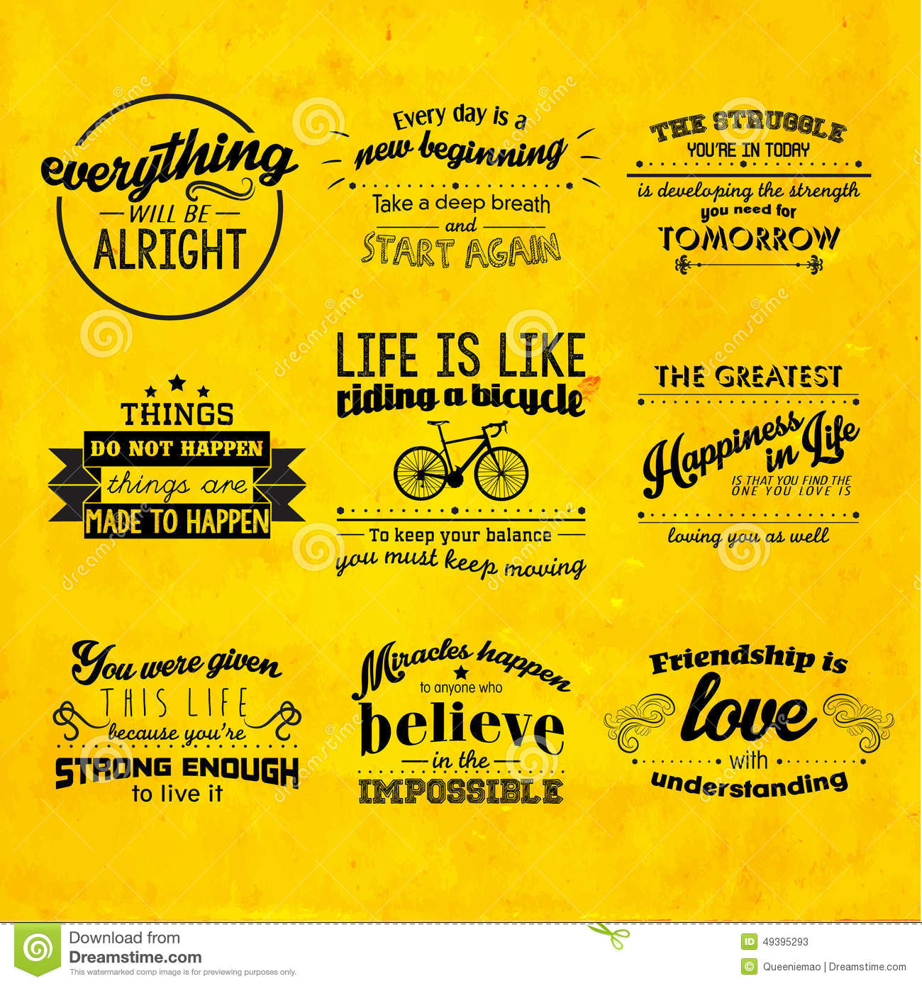 Us Stock Live Quote: Inspirational And Encouraging Quote Vector Design Stock