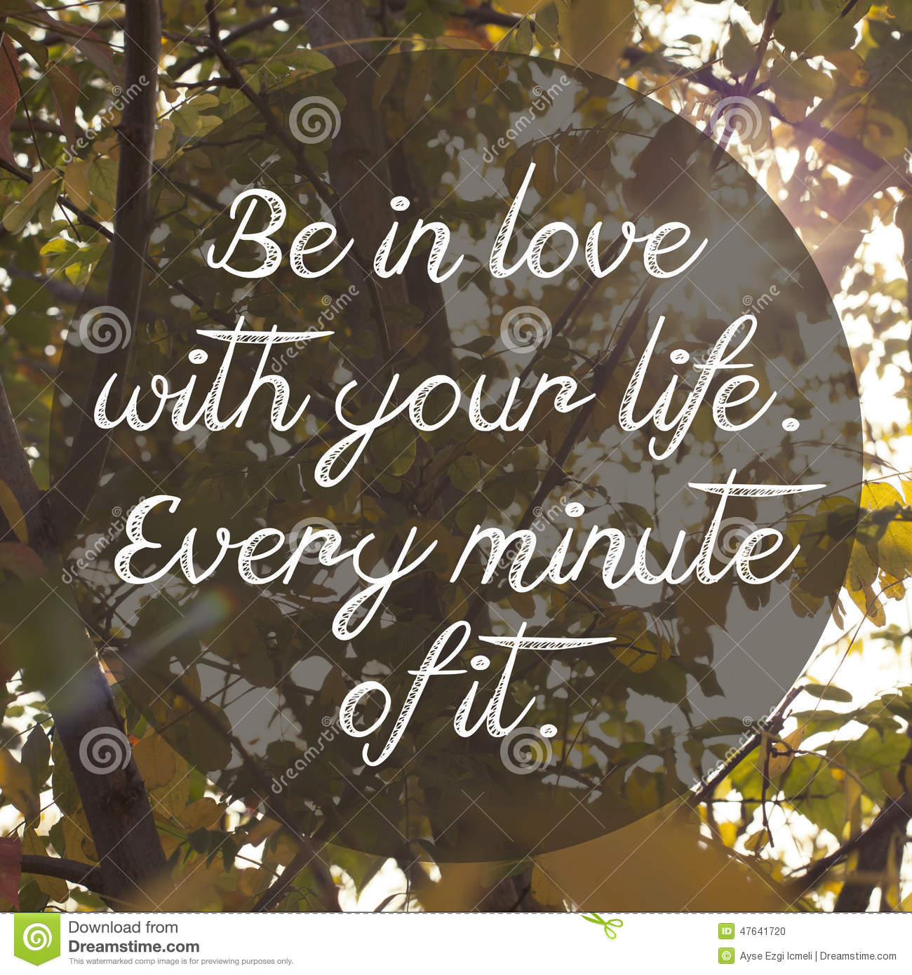 Inspirational Life Quote Design Poster Stock Photo - Image ...