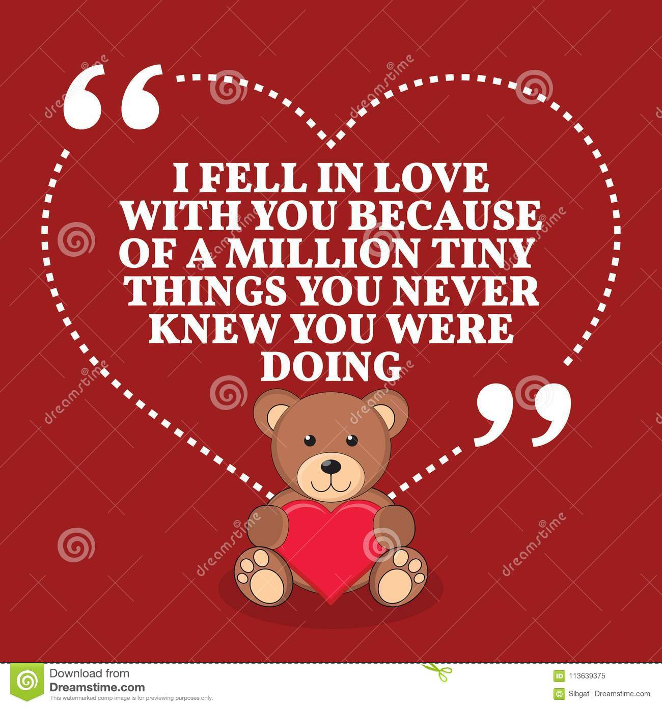 Inspirational Love Marriage Quote I Fell In Love With You Becau
