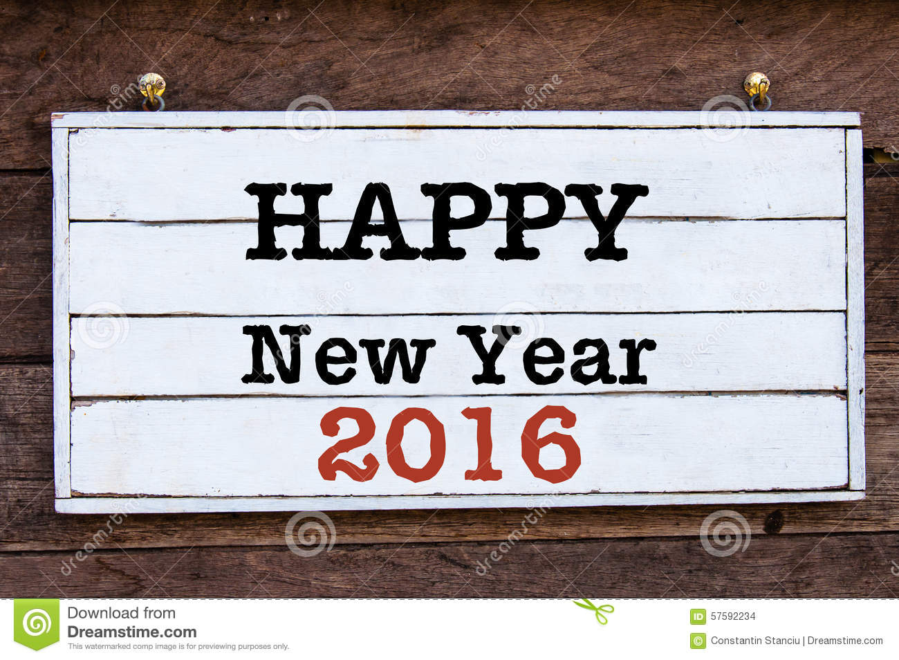 Inspirational Message - Happy New Year 2016 Stock Illustration ...