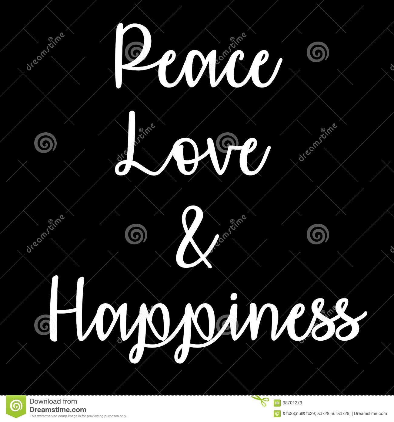 Peace Love Quotes Download: Inspirational And Mindful Quote: Peace, Love And Happiness