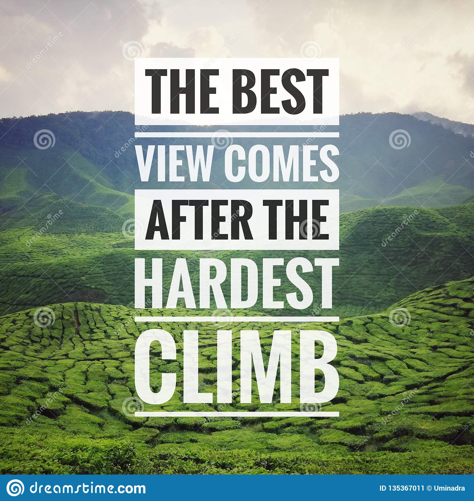 Inspirational Motivating Typography Quote On Nature Background