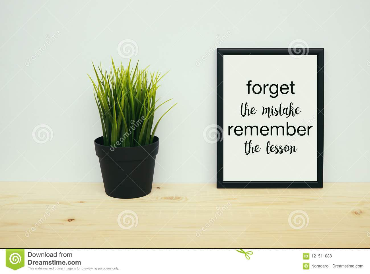 Forget the mistakes remember the lesson quote