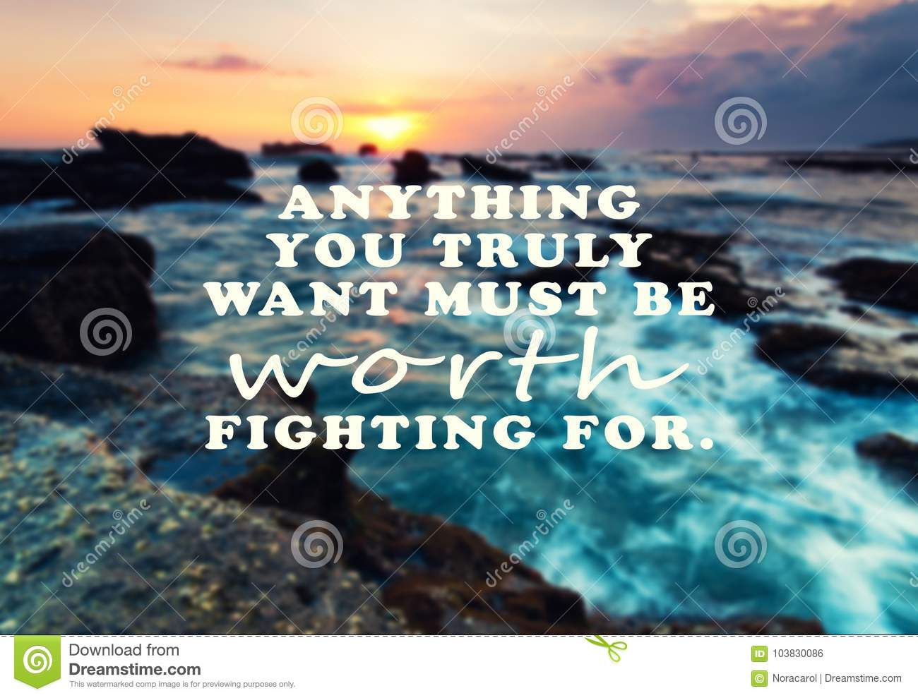 Inspirational And Motivational Quote Stock Photo Image Of Must