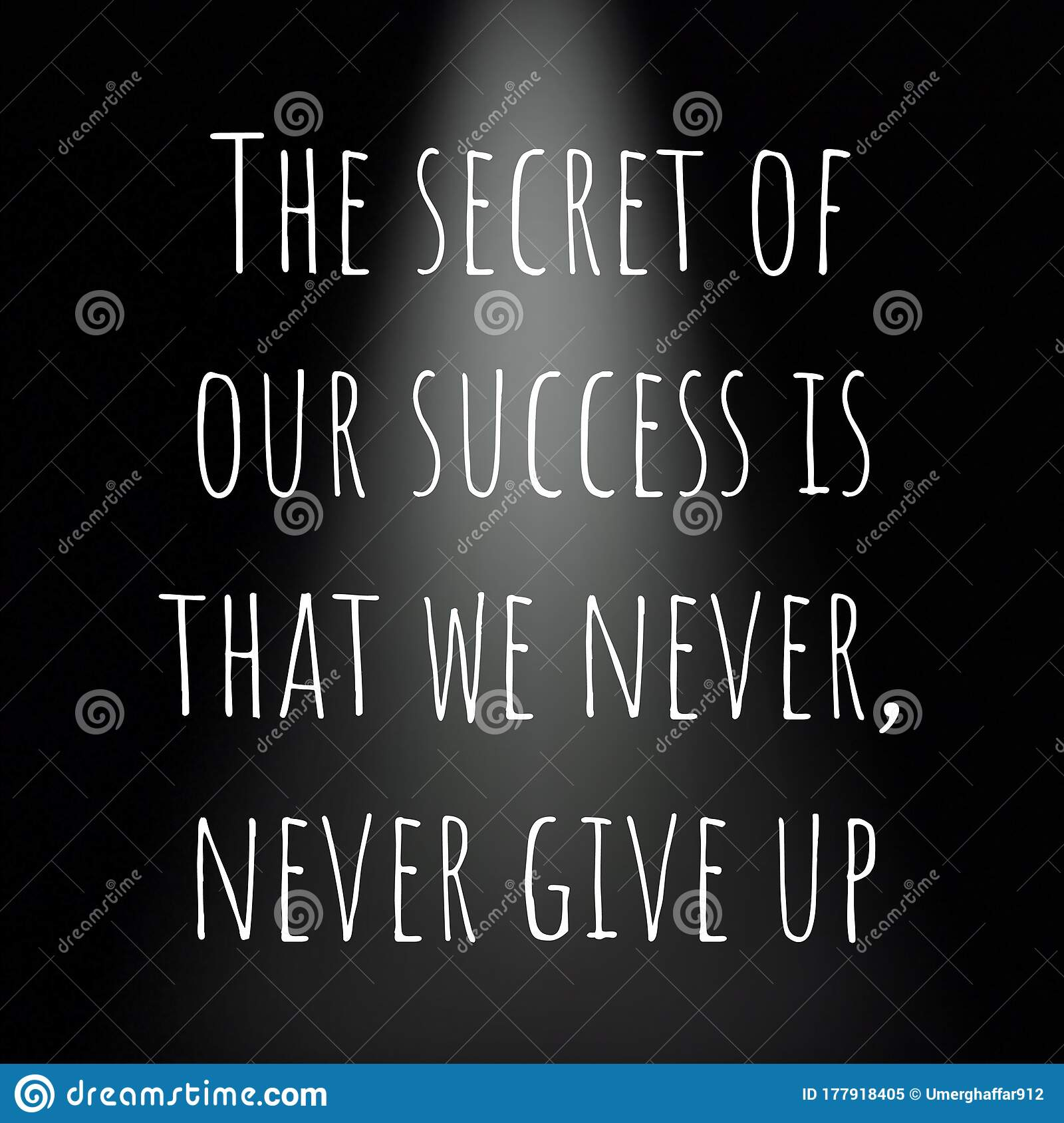 Inspirational and Motivational Quote about Success in Life Stock ...