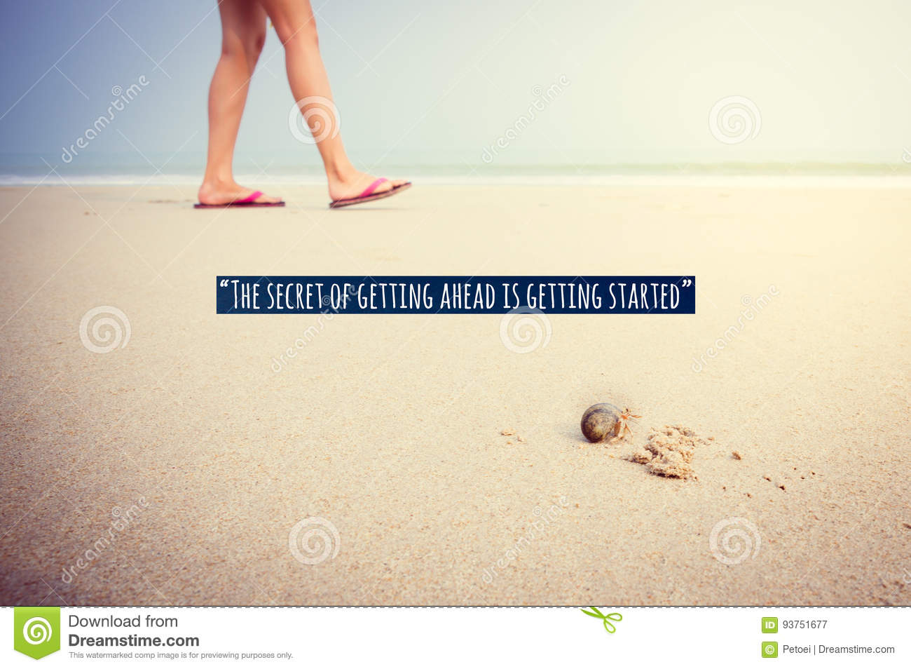 Inspirational And Motivational Quote Text Stock Image Image Of