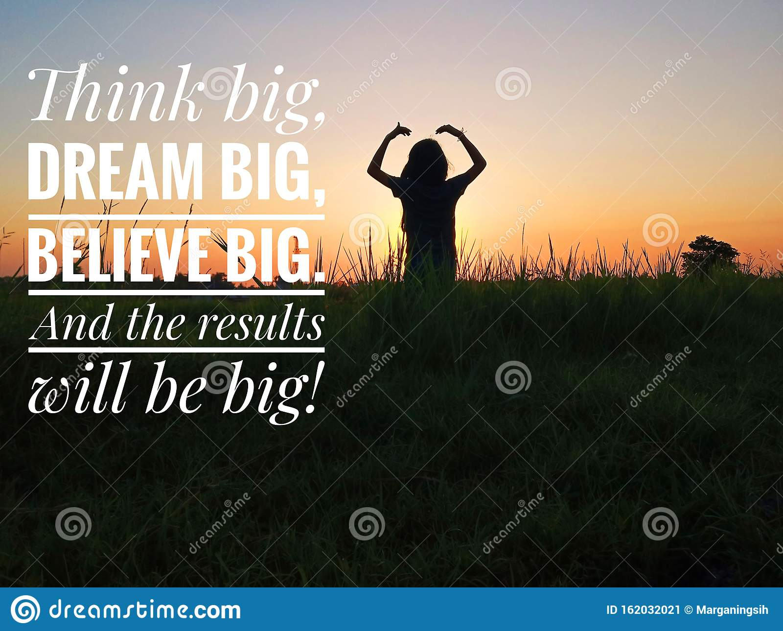 Inspirational Motivational Quote   Think Big, Dream Big, Believe ...