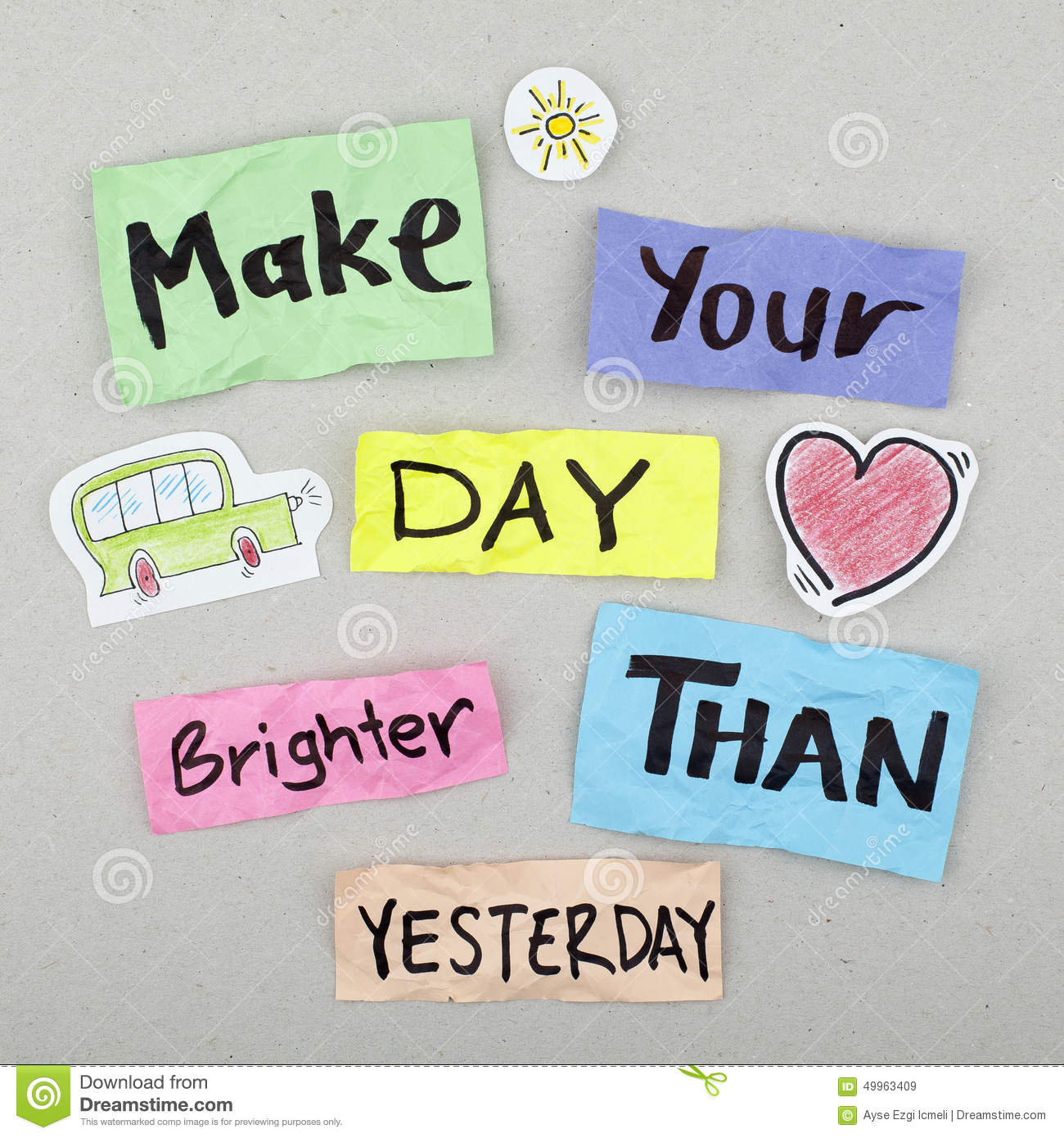 Positive Quote Day: Inspirational Positive Life Quote Stock Photo
