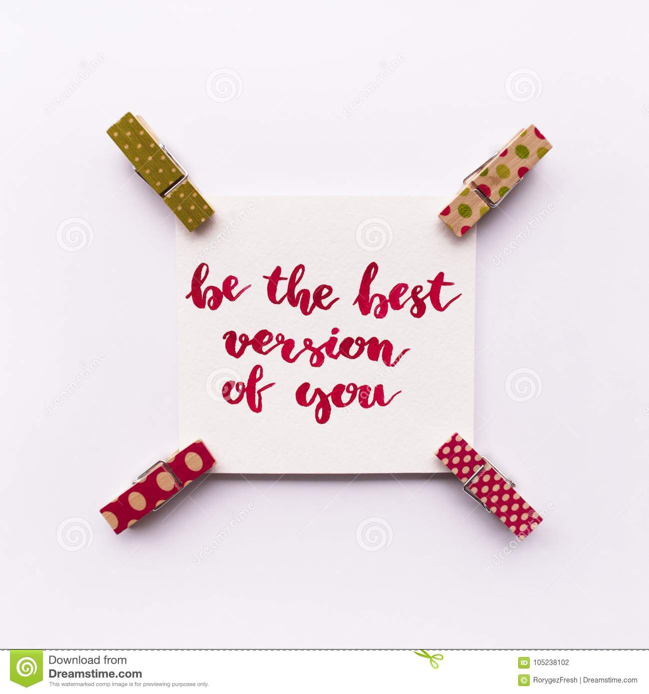 Be The Best Version Of You Quote: Inspirational Quote Be The Best Version Of You Handwritten