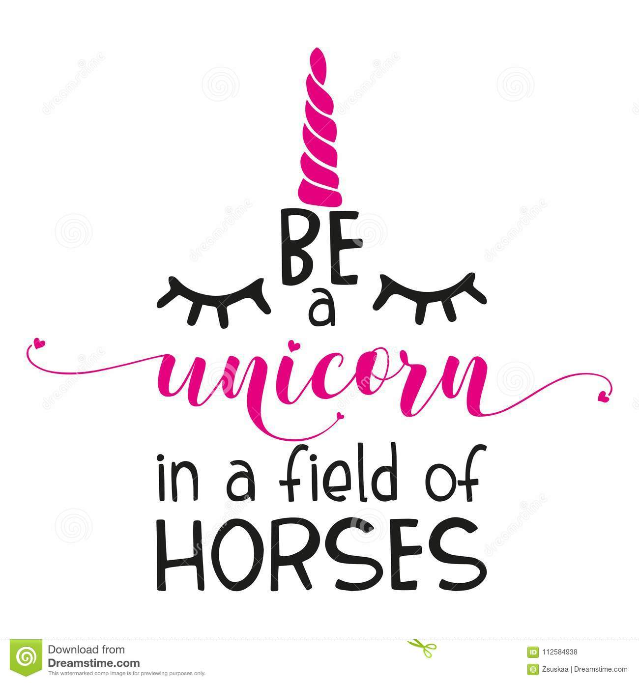 photo regarding Be a Unicorn in a Field of Horses Free Printable named The Inspirational Estimate: `Be A Unicorn Within A Marketplace Of Horses