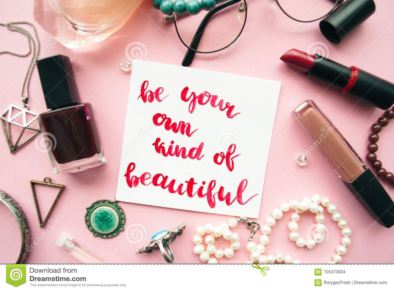 Inspirational Quote Be Your Own Kind Of Beautiful Handwritten With