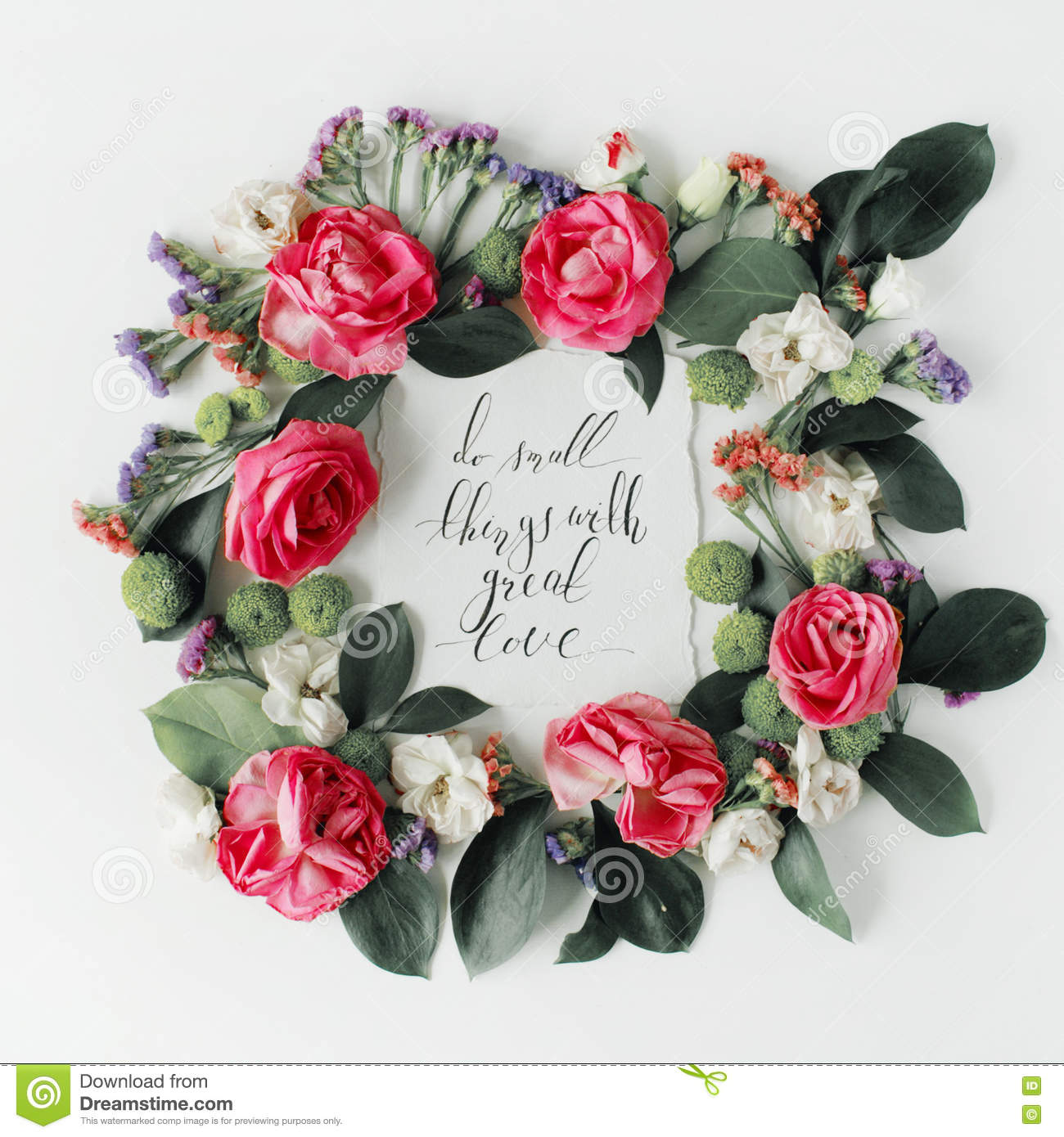 Flowers Love Quotes Love Written Flowers Isolated Stock Images  84 Photos