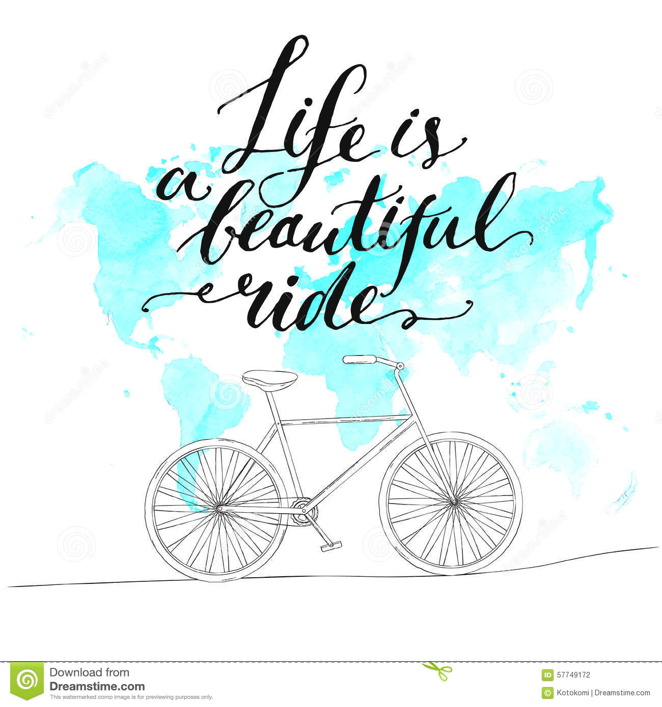 Inspirational Quote Life Is A Beautiful Ride Stock Vector