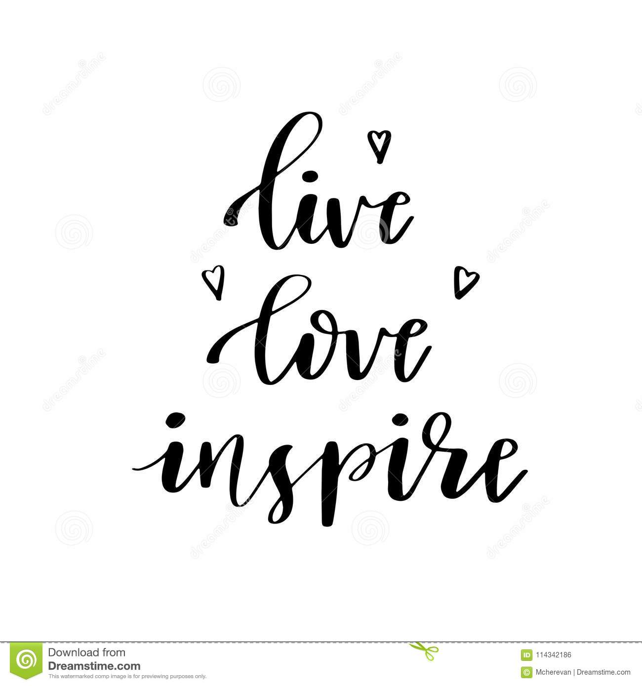 Inspirational Quote Live Laugh Love Stock Illustration