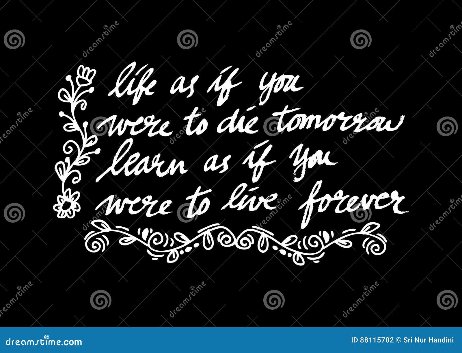 Inspirational Quote By Mahatma Gandhi Stock Photo