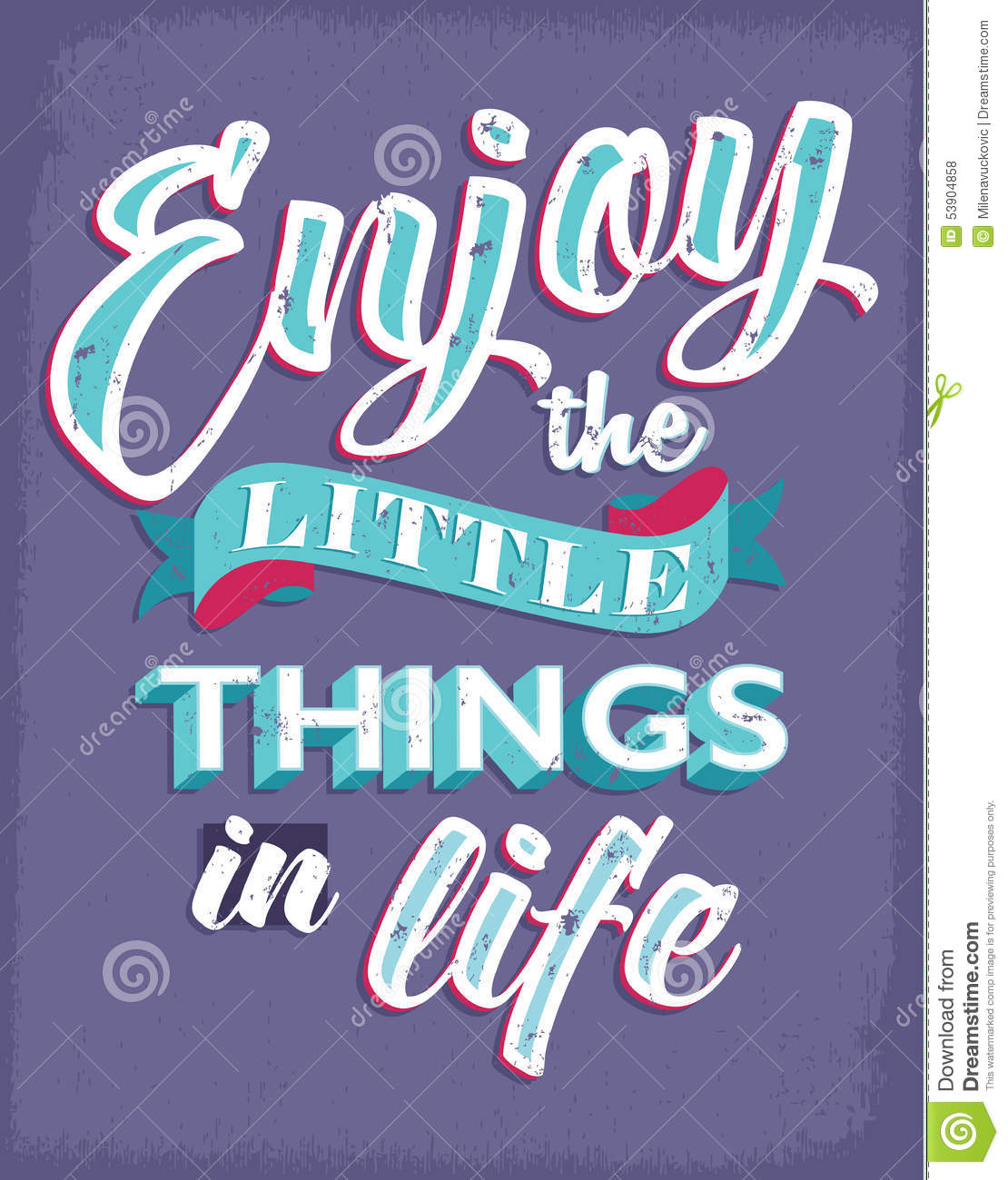 Inspirational Quotes For Enjoying Life Stock Vector Illustration