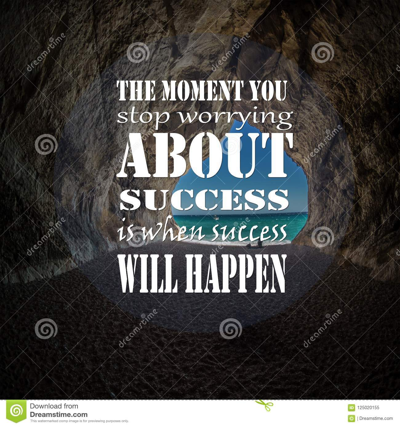 inspirational quotes the moment you stop worrying about success is