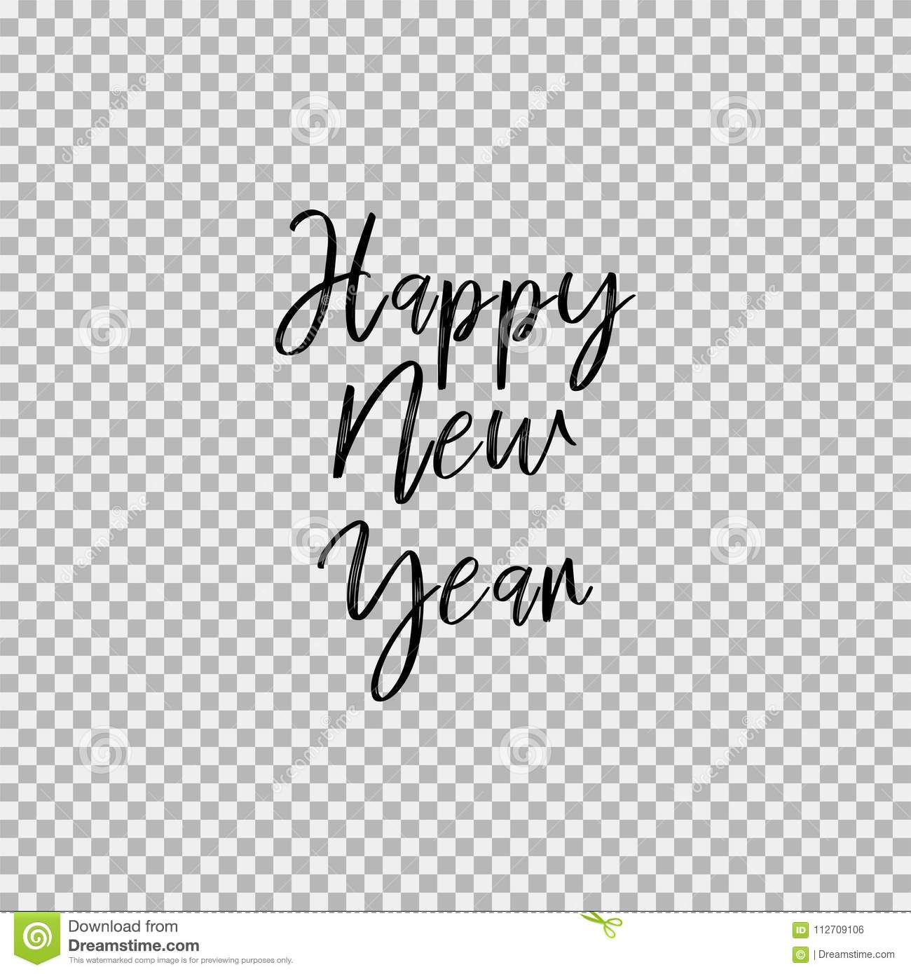 Happy New Year. Transparent Background Stock Vector - Illustration ...
