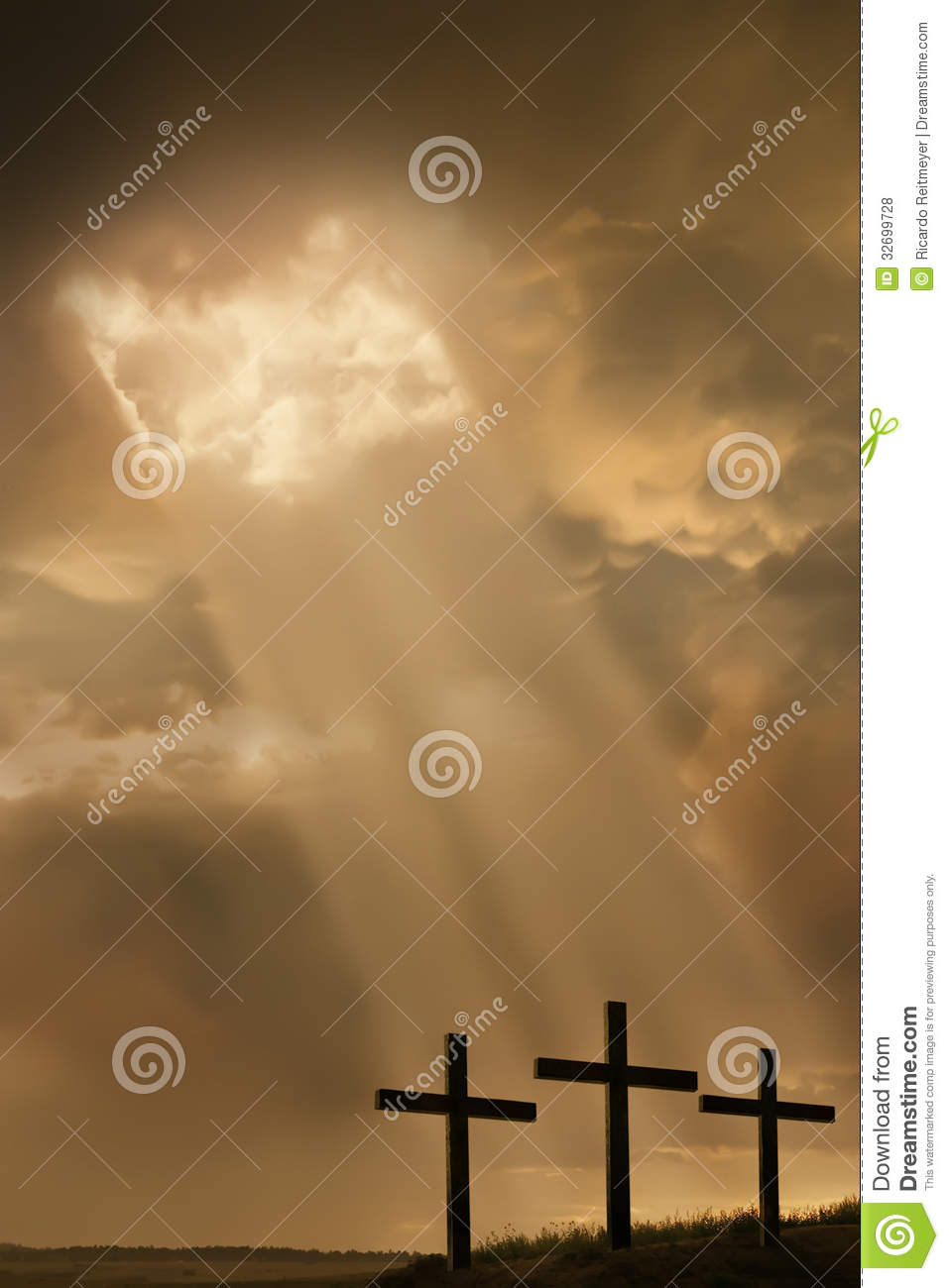 Silhouette of the holy cross on background of storm clouds stock - Inspirational Religous Illustration Breaking Storm Royalty Free Stock Photos