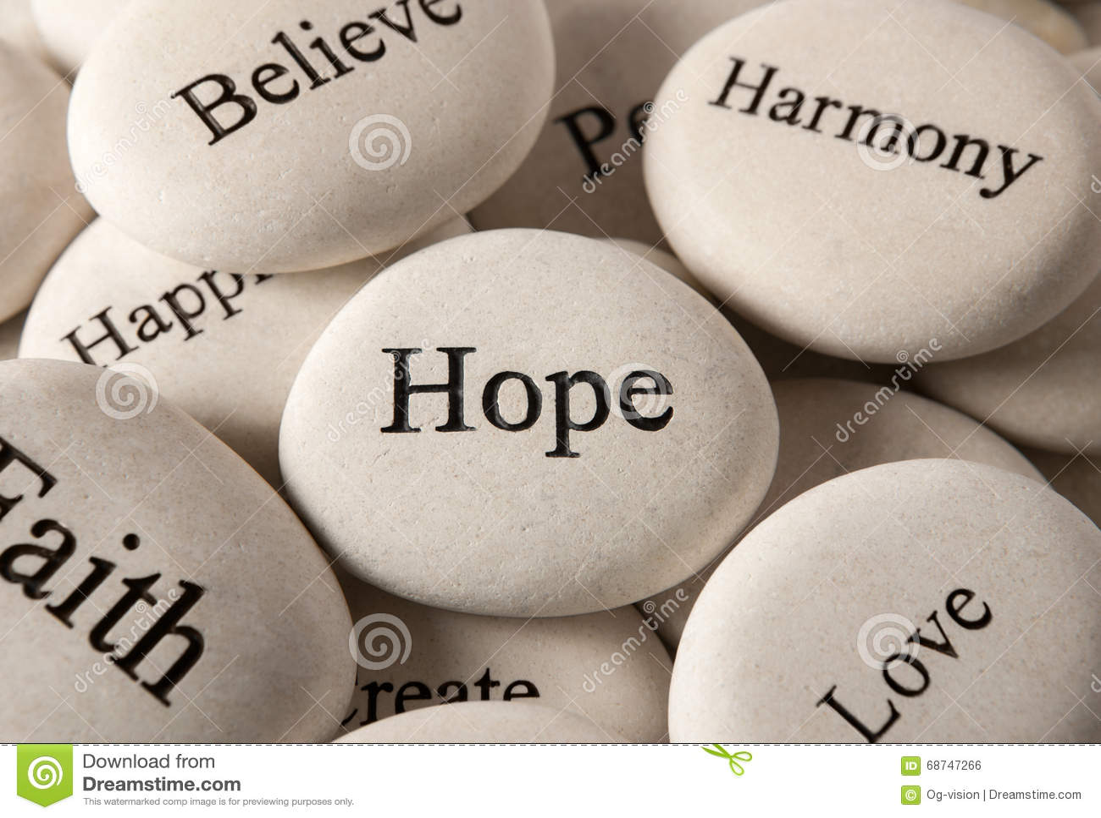 Inspirational stones - Hope